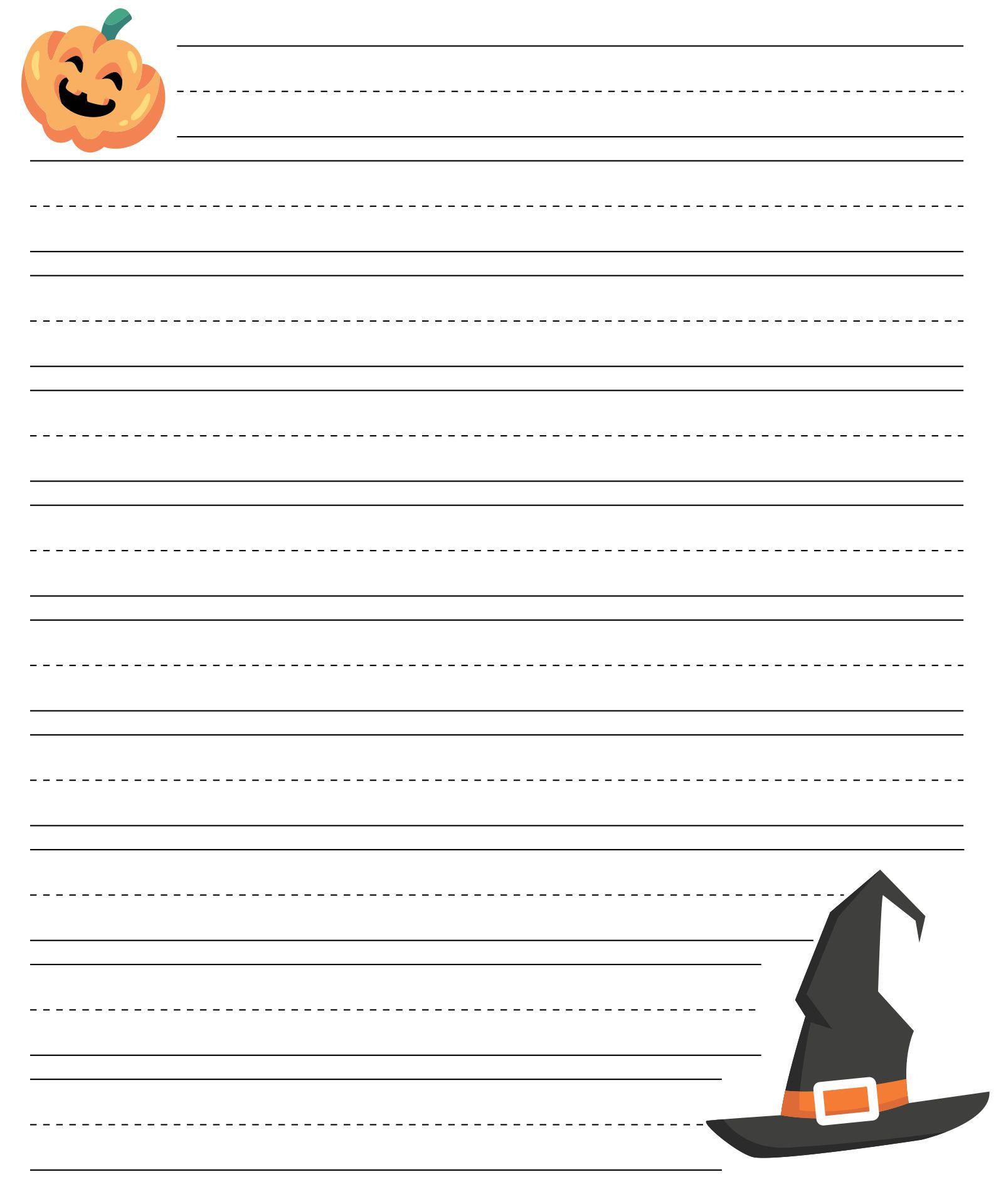 Printable Halloween Writing Paper