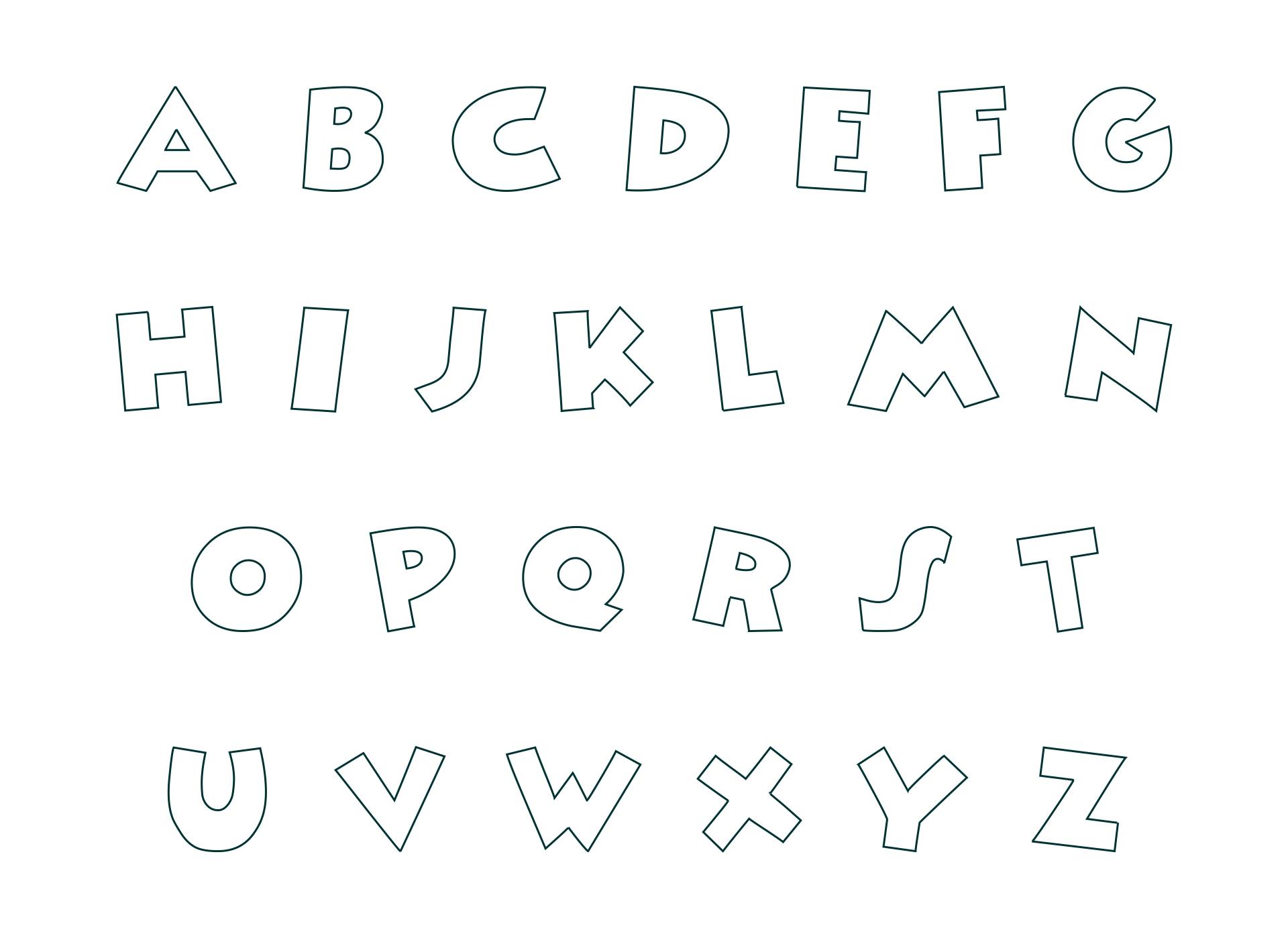 Printable Fancy Alphabet Letters Templates