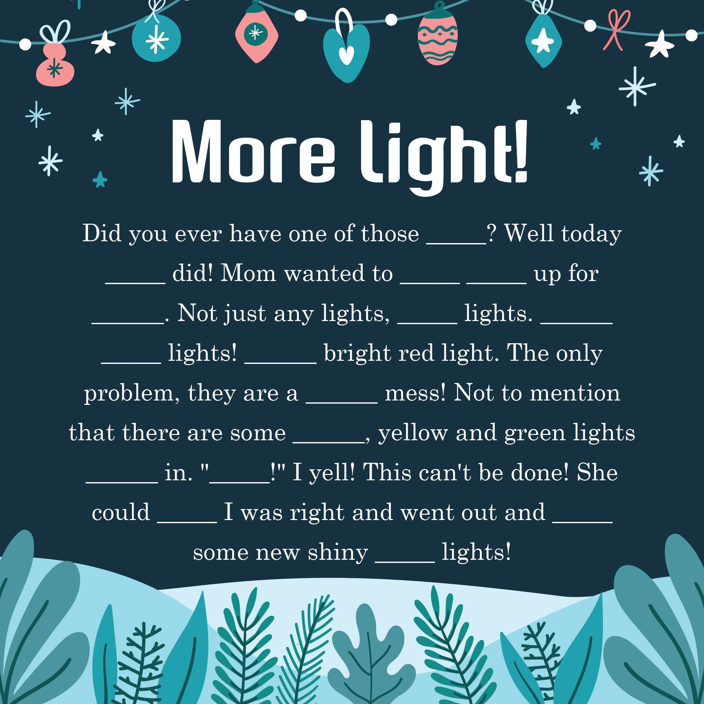Christmas Mad Libs Printables