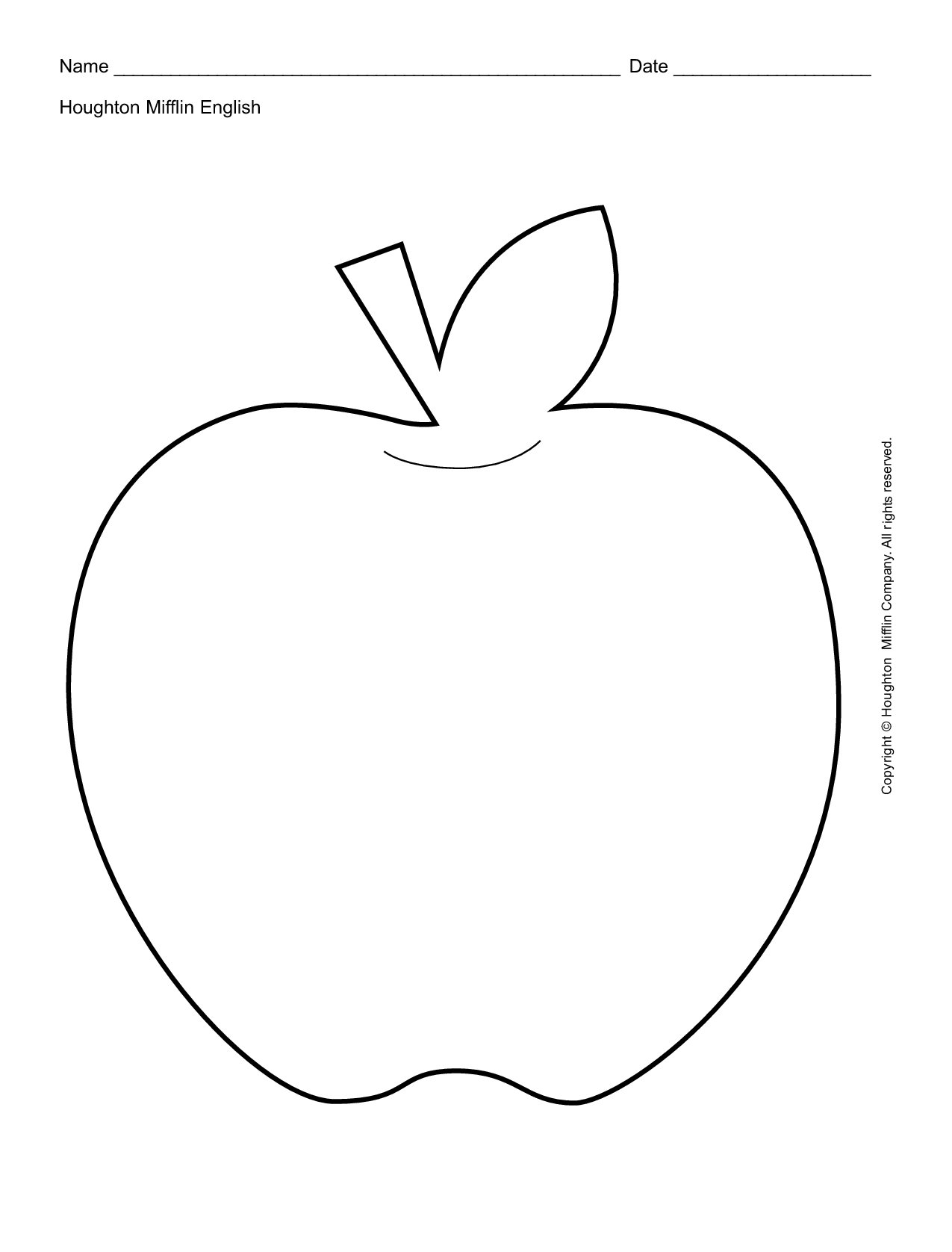 Apple Template Printable