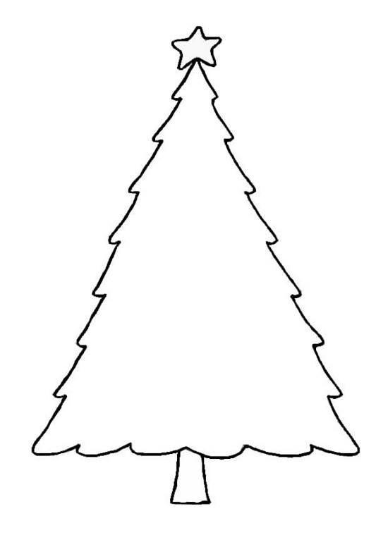 Printable Blank Christmas Tree