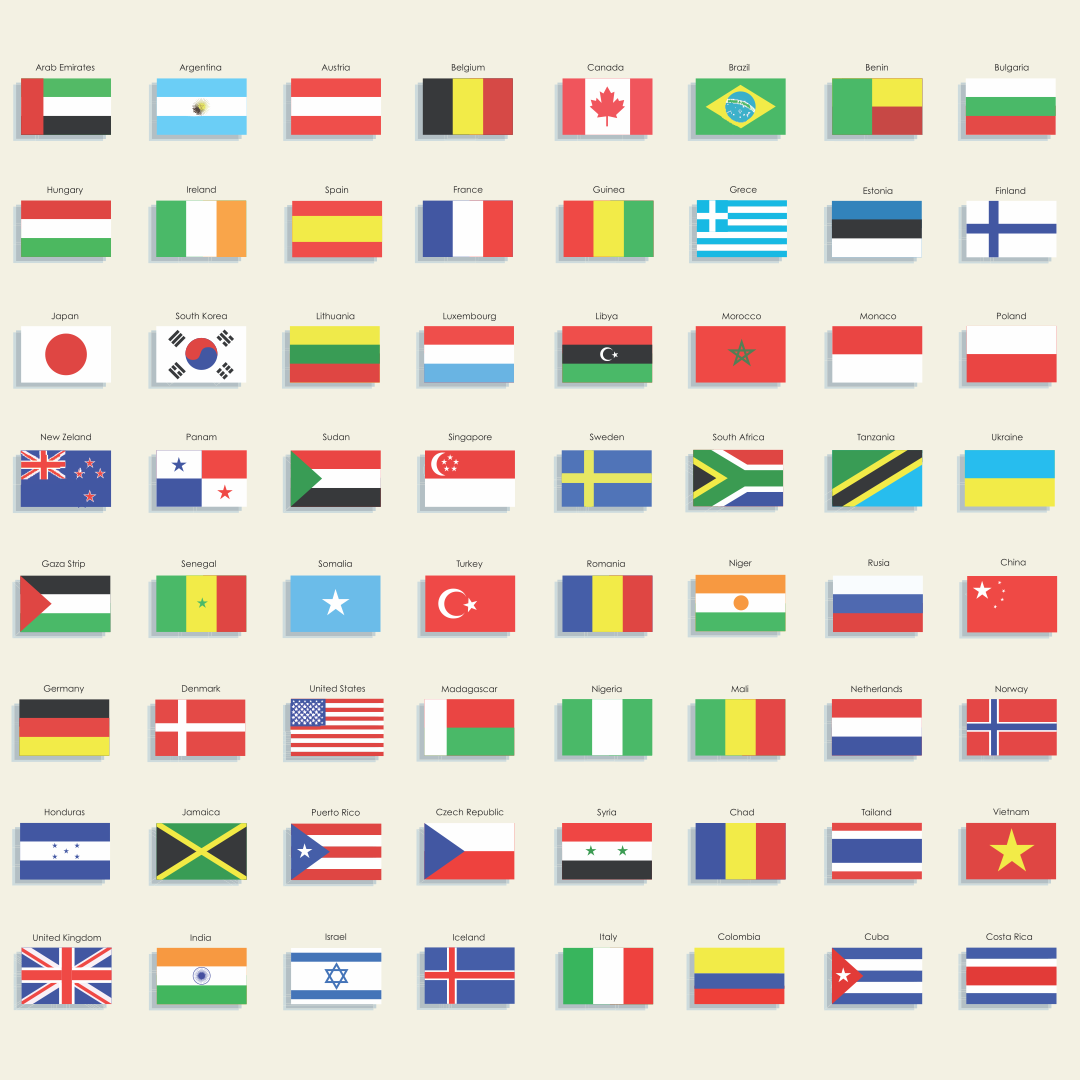 Printable Country Flags