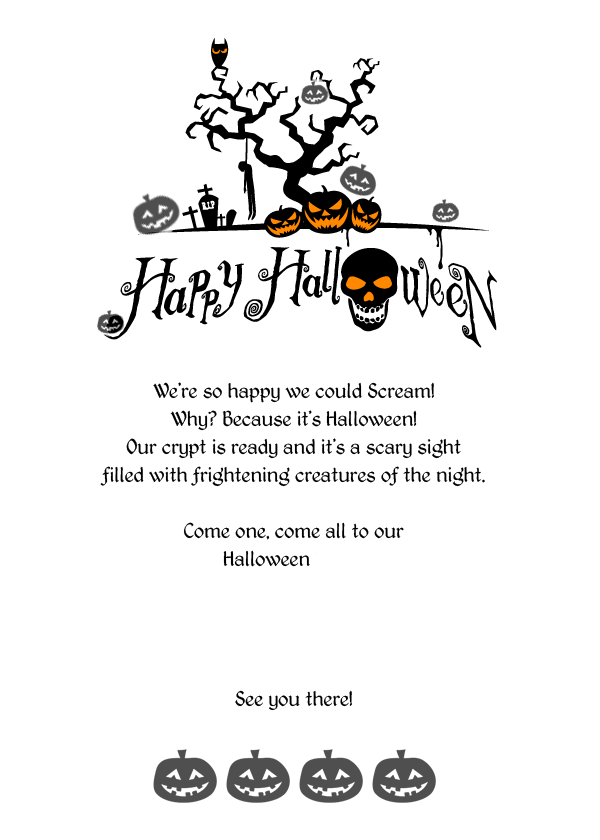 Printable Halloween Invitations Templates