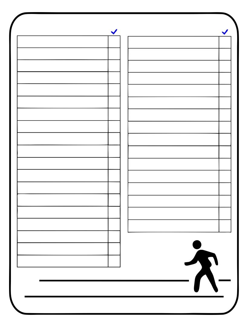 Printable Blank List