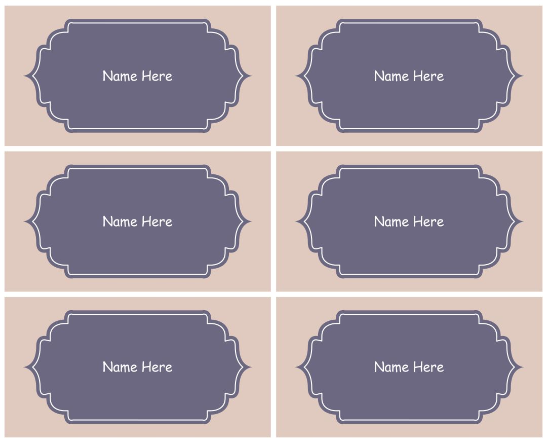 Printable Kids Name Tags Templates