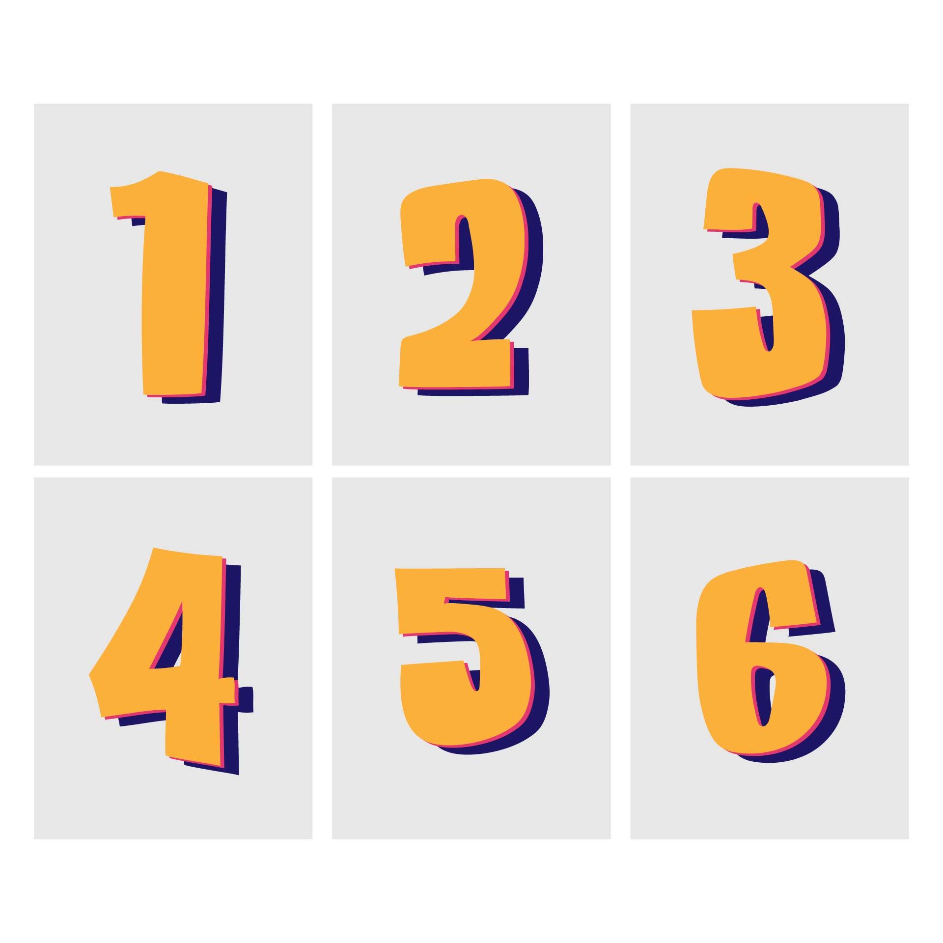 Printable Number 6 7