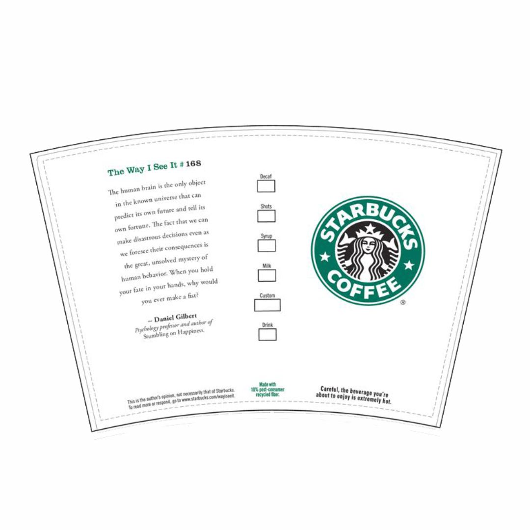 Starbucks Printable Label