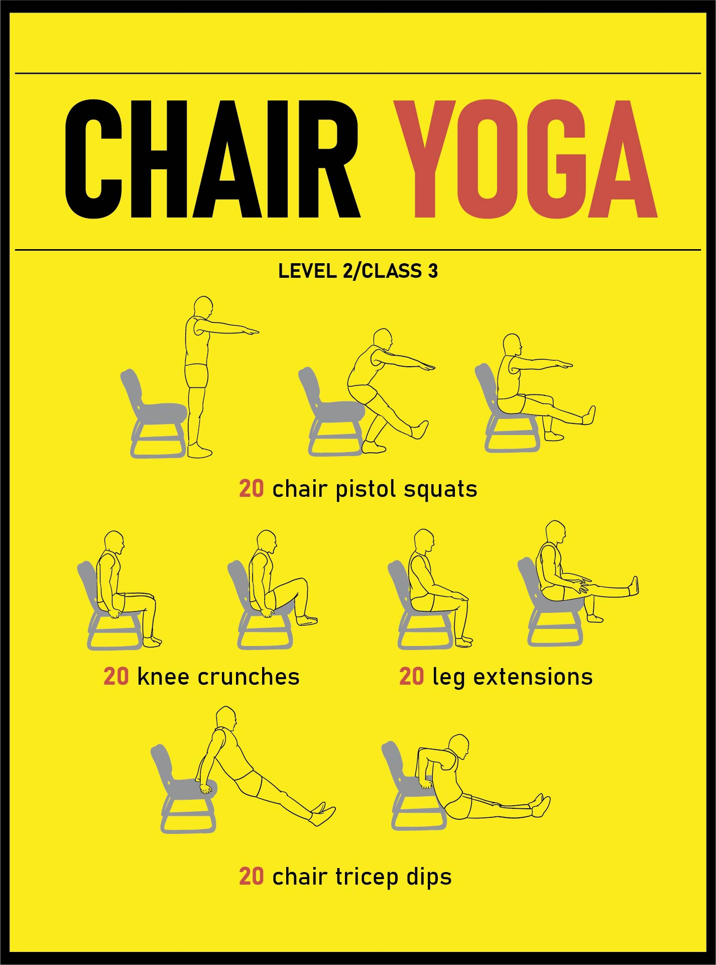 Printable Chair Exercises