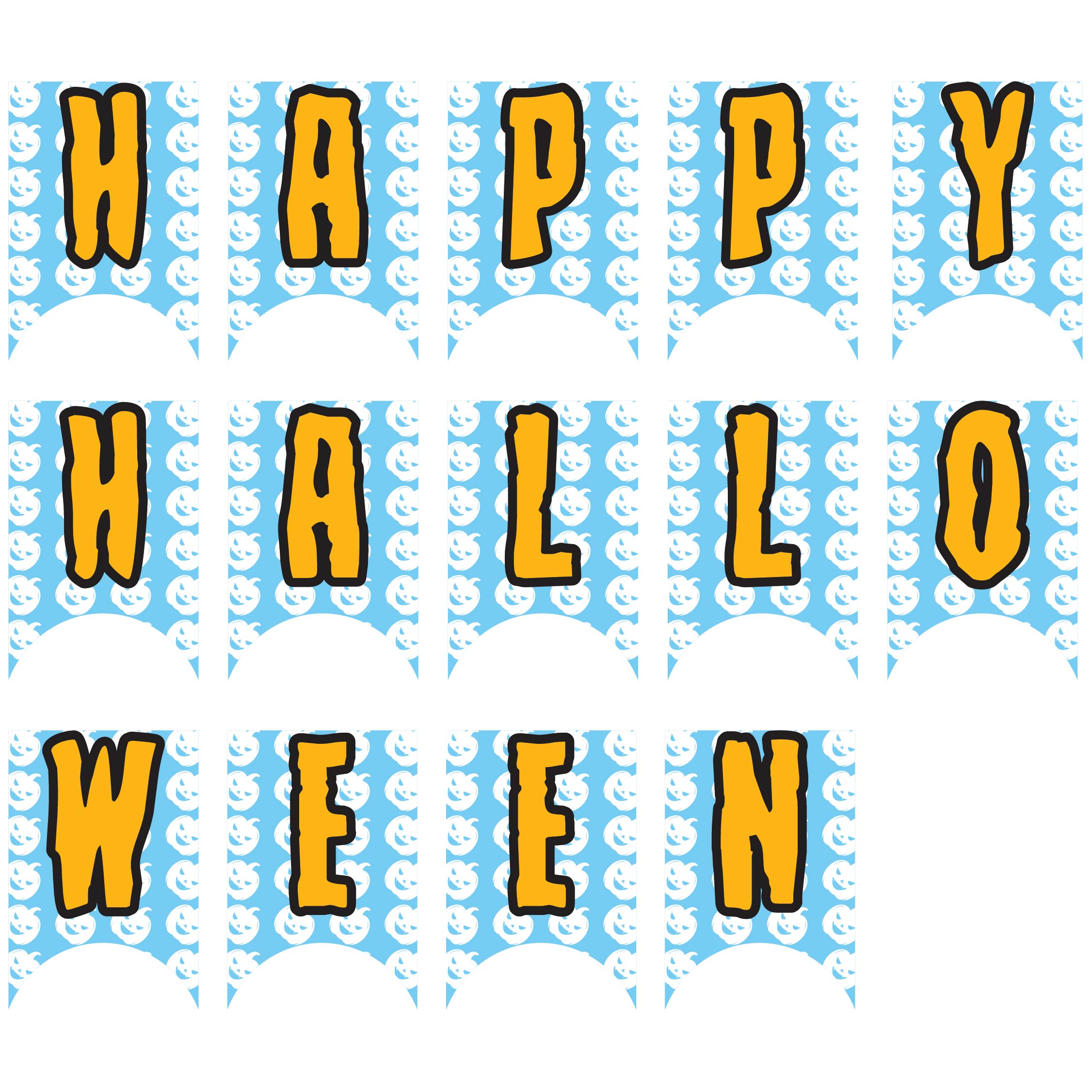 Cut Out Halloween Banner Printable