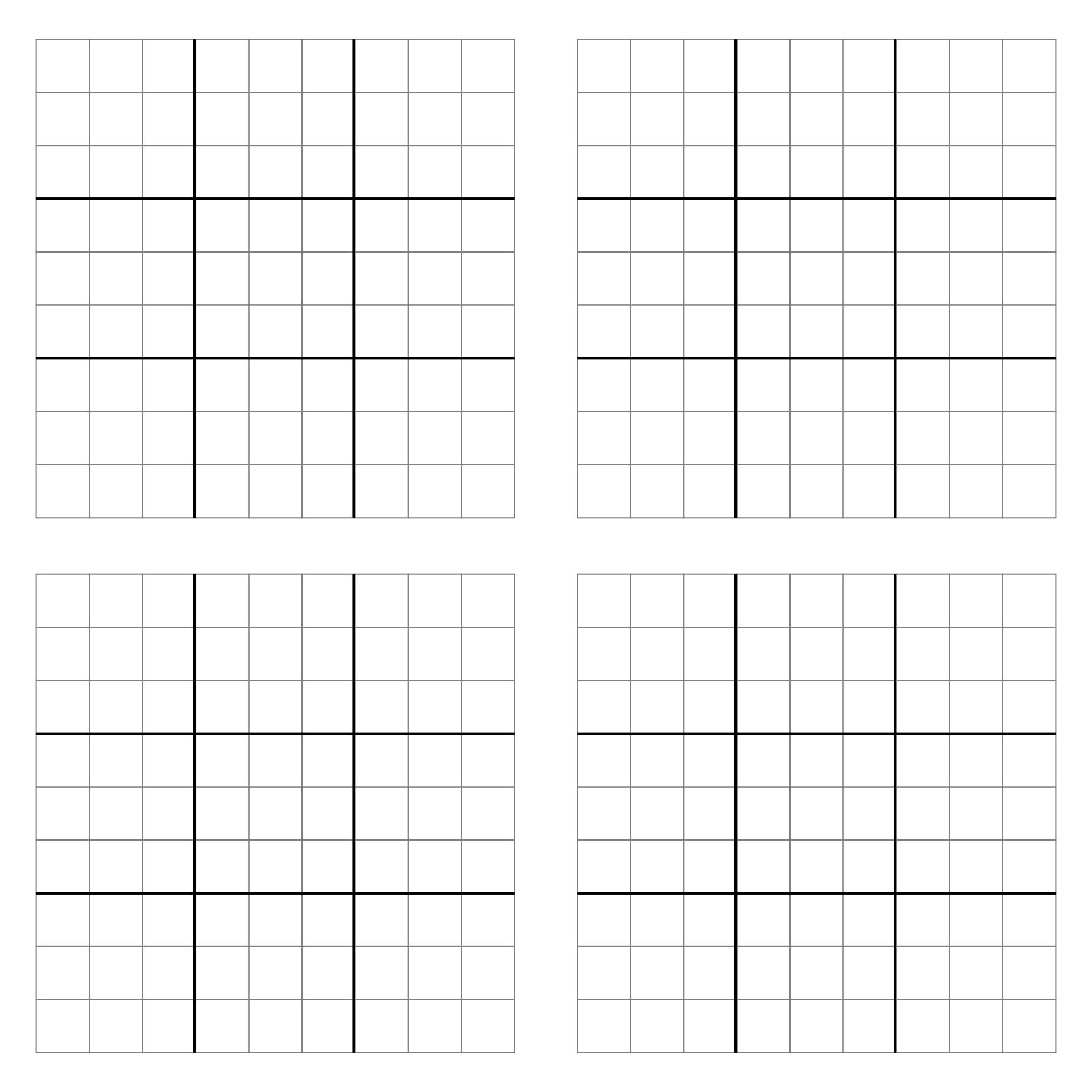 Printable Blank Sudoku Grid 2 Per Page