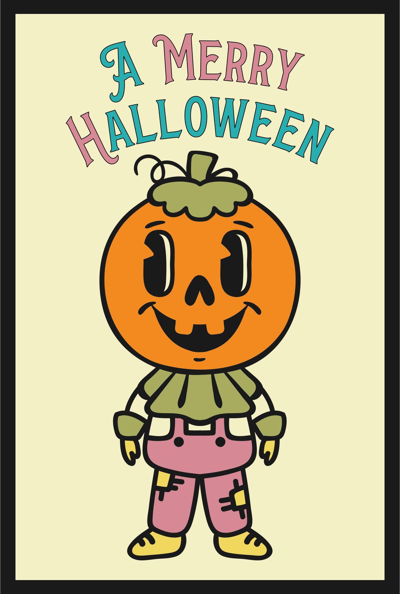 Printable Vintage Halloween Cat