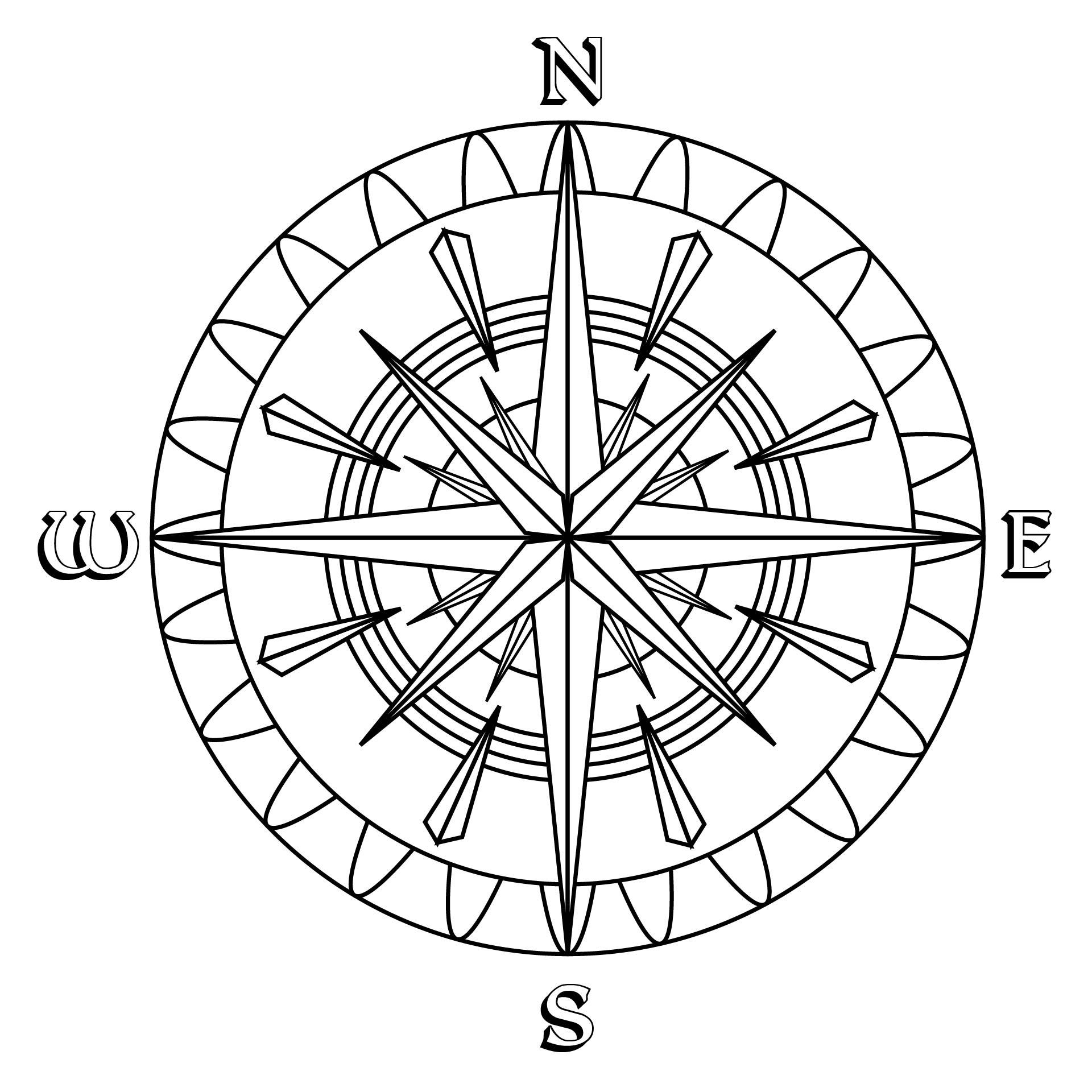 Printable Compass