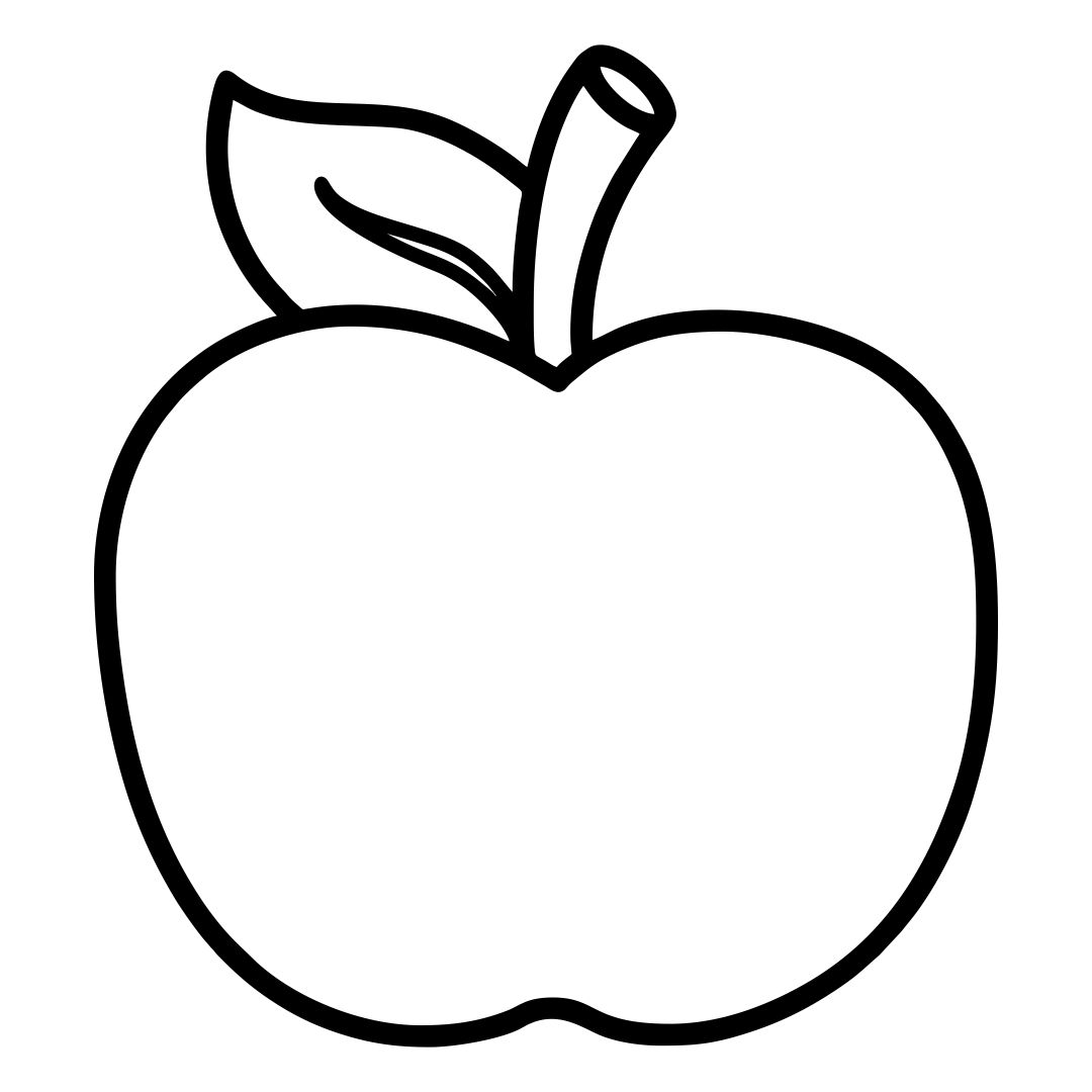Printable Apple Template Preschool