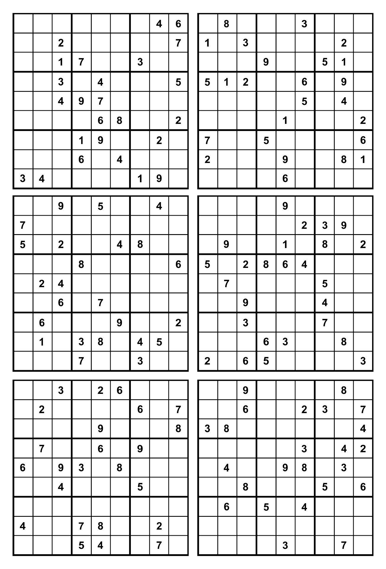 16 Sudoku Printable