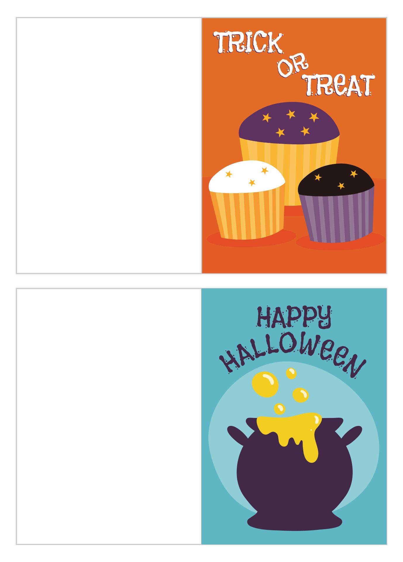 Happy Halloween Greeting Cards Printable