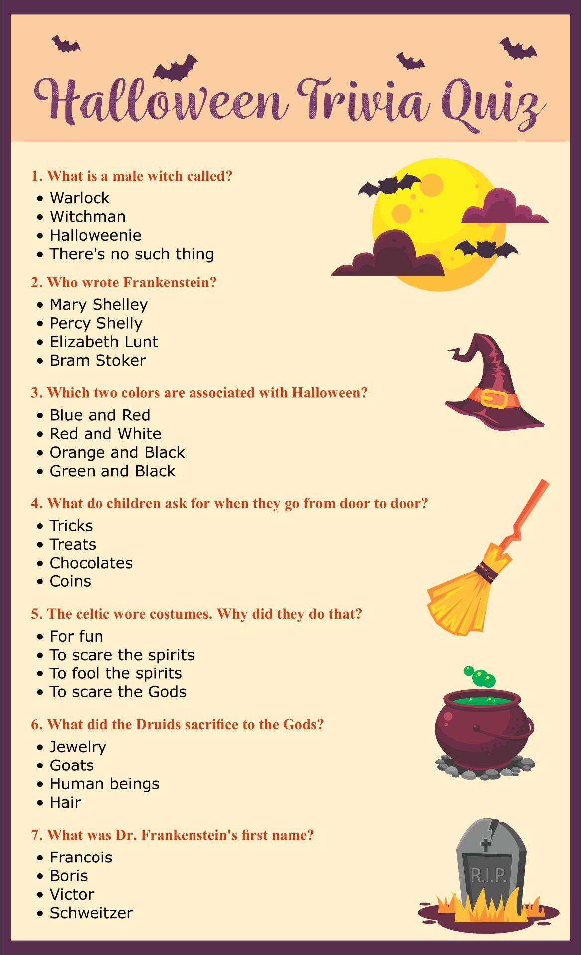 Printable Halloween Trivia Questions