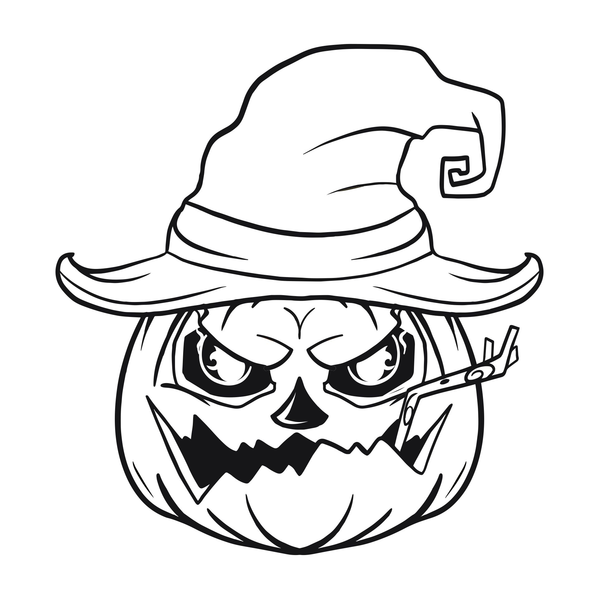 Scary Halloween Coloring Printables