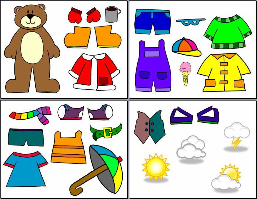 Printable Weather Bear Clothes
