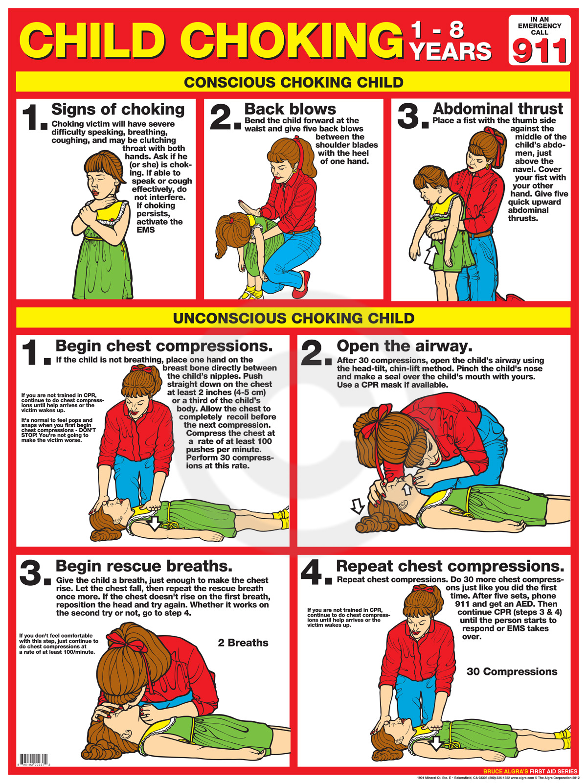 Choking CPR Printable