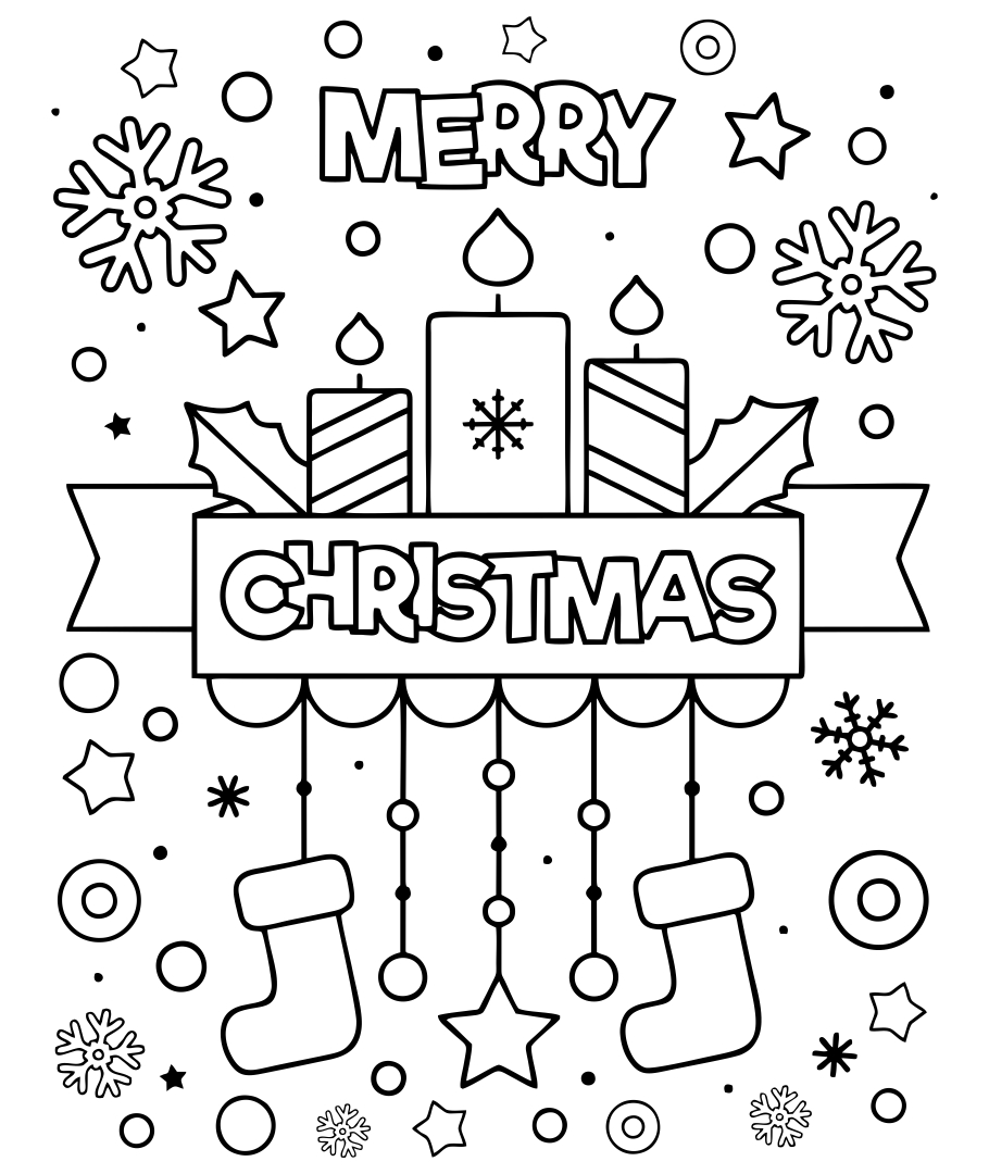 Christmas Cookie Printable Christmas Coloring Pages