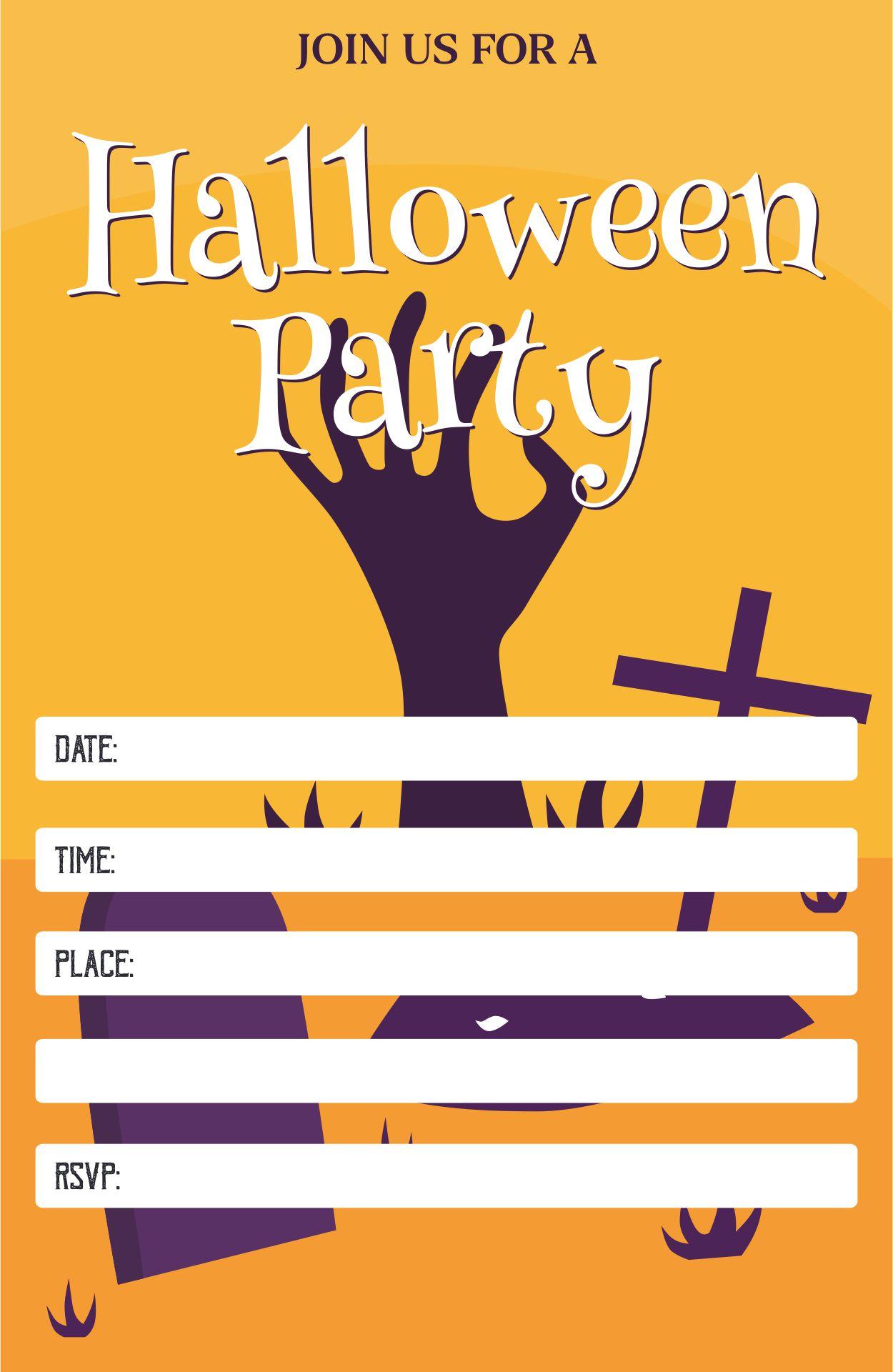 Black & White Halloween Invitations Printable