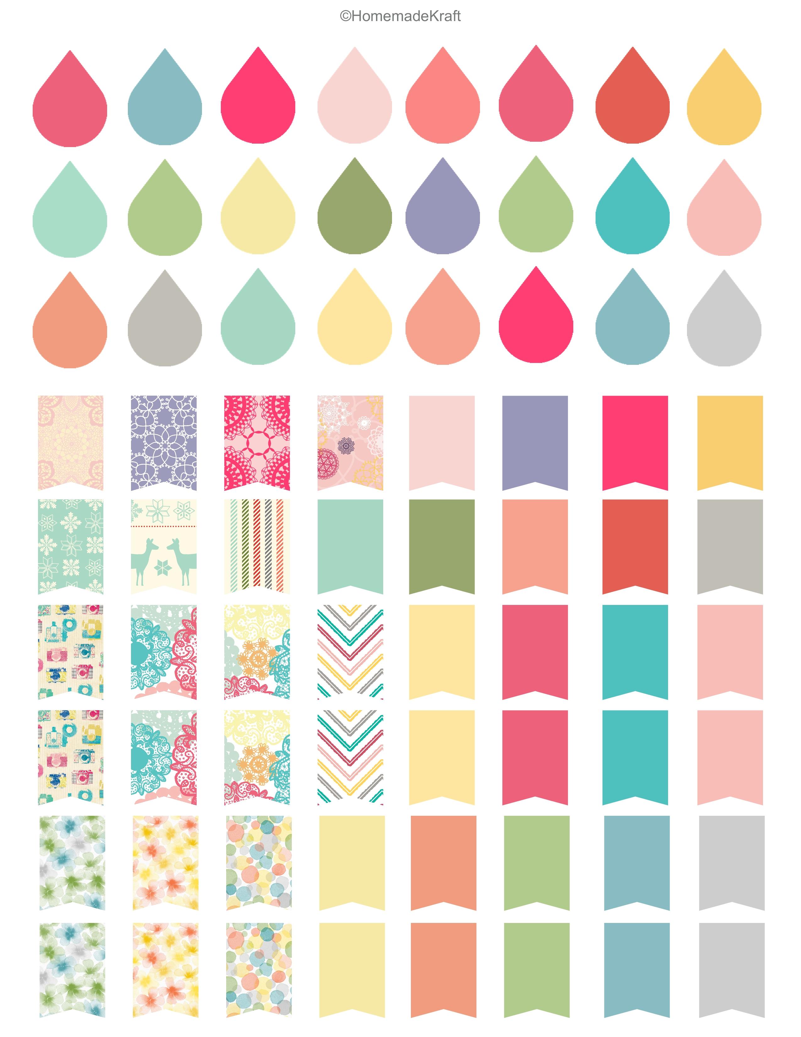 Printable Sticker Sheets