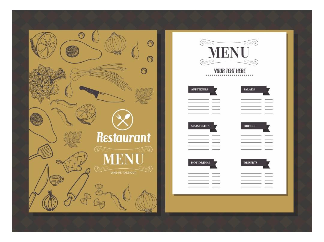 Printable Blank Restaurant Menus