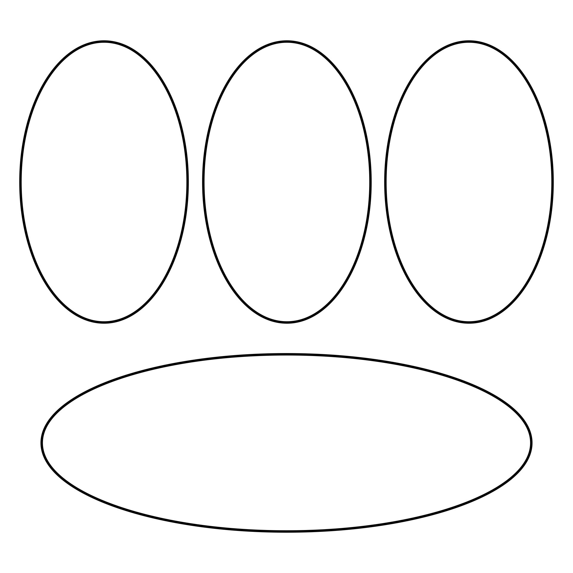 Printable Oval Template