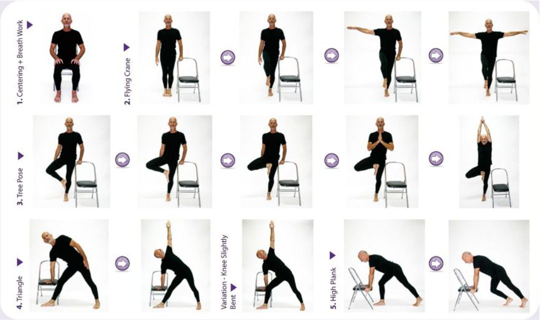 Printable Chair Yoga Exercises For Seniors
