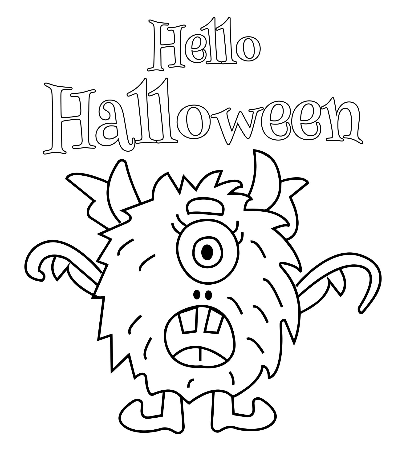 Printable Halloween Coloring