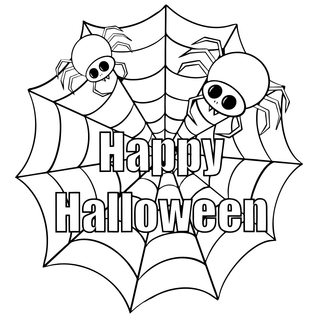 Printable Halloween Spider Coloring Pages