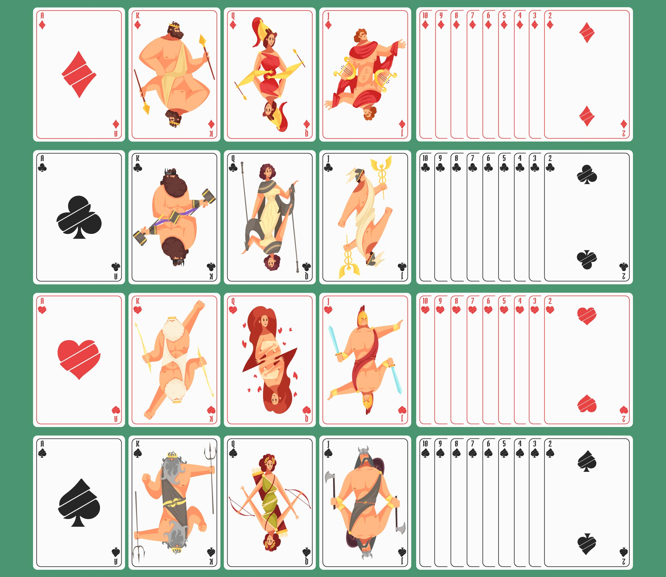Set Of Playing Cards Printable