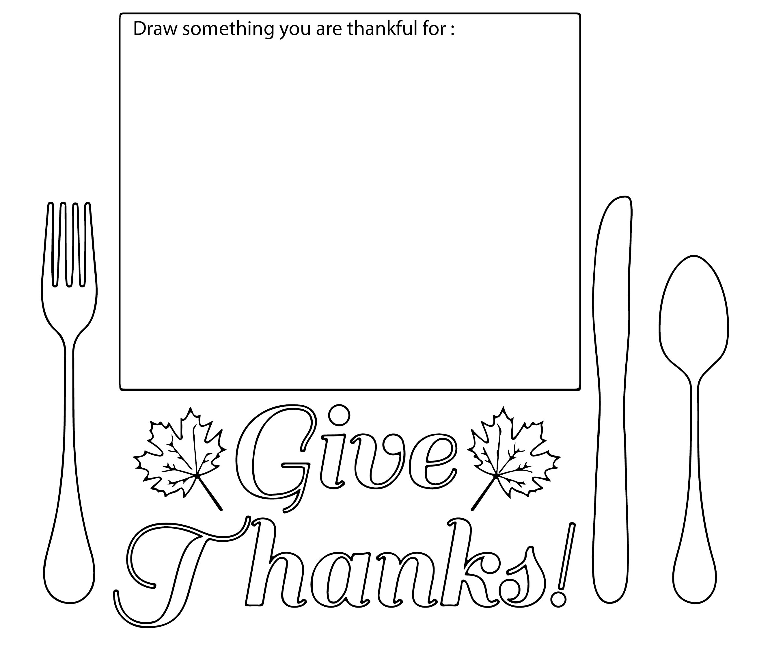 Making Thanksgiving Placemats Printable