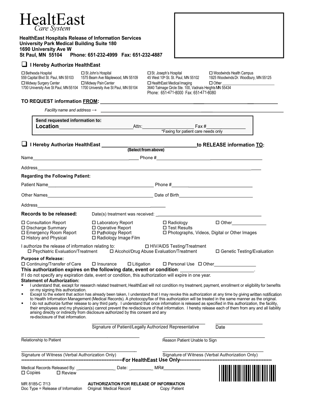 Printable Hospital Discharge Forms