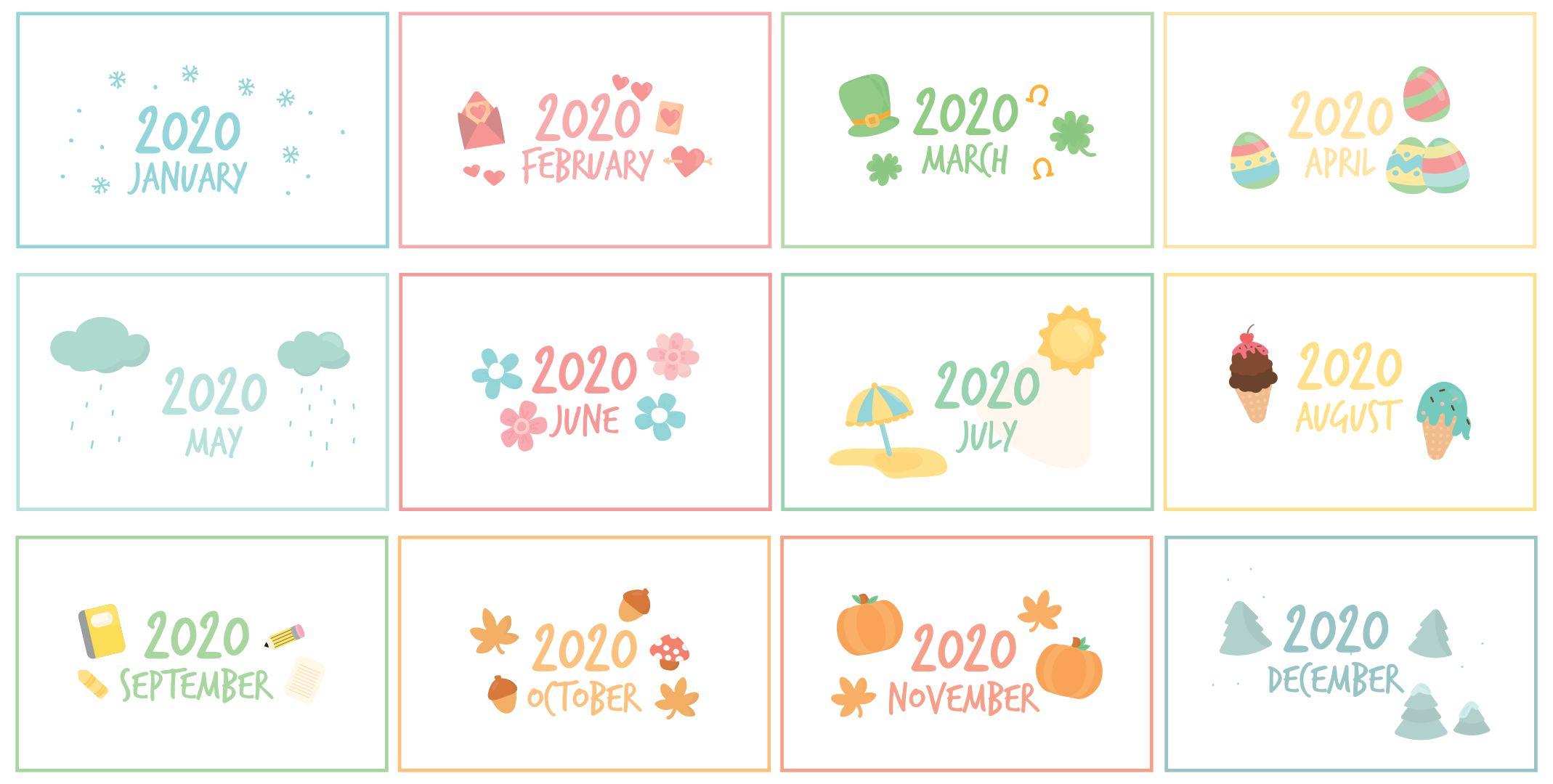 Printable Calendar Month Labels