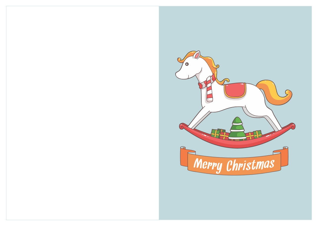 Printable Horse Christmas Cards