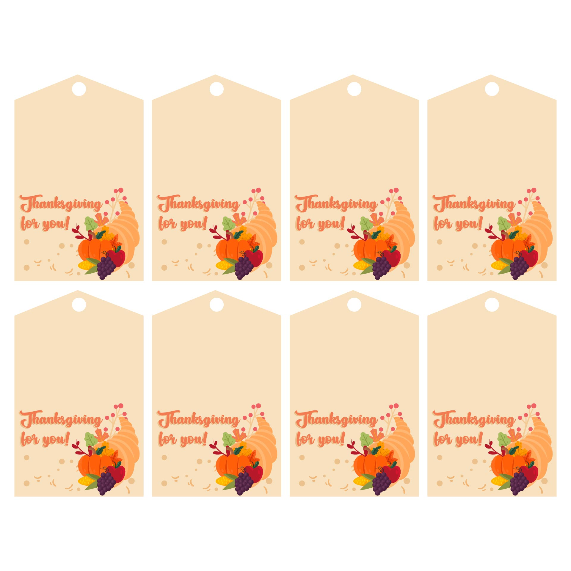 Printable Thanksgiving Gift Tags