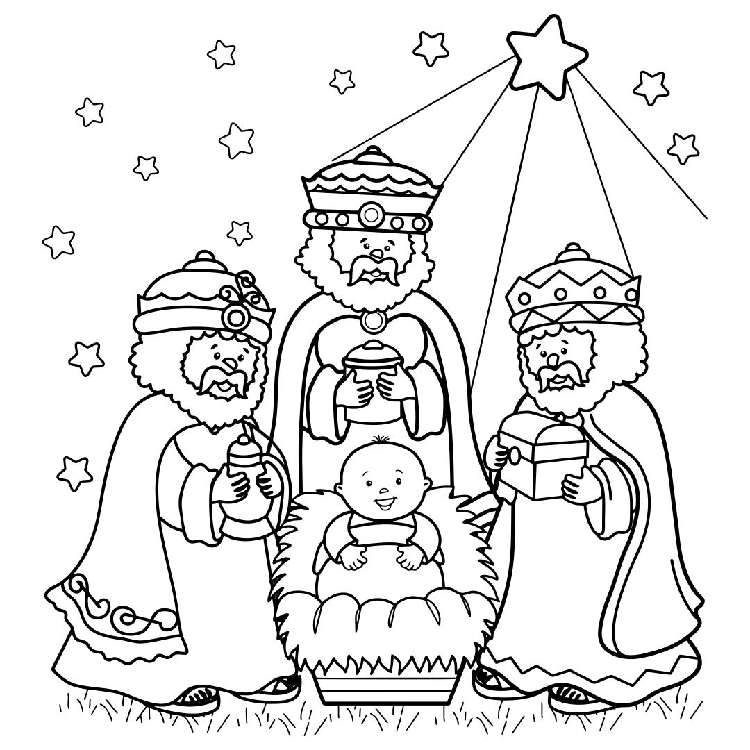 Christian Christmas Printable Coloring Pages