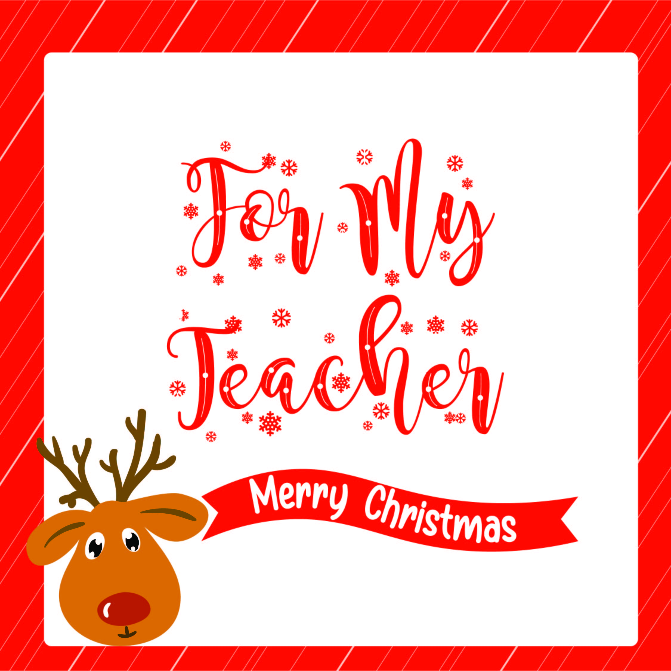 Christmas Coloring Printable For Teacher Card