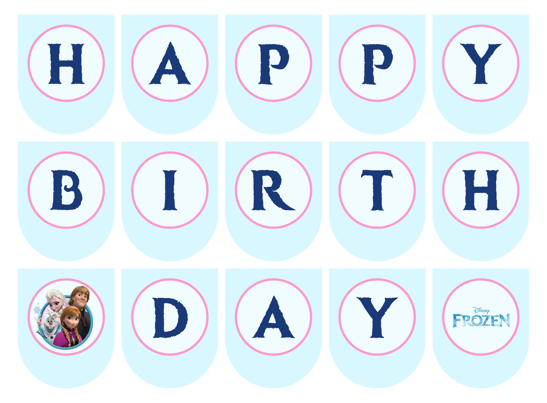 Frozen Birthday Banner Printable