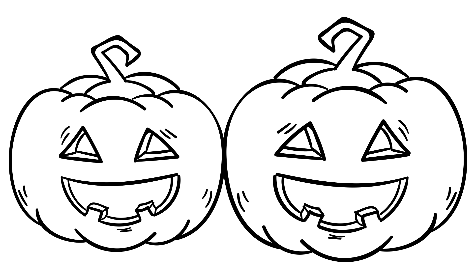 Halloween Printable Pumpkins Outline