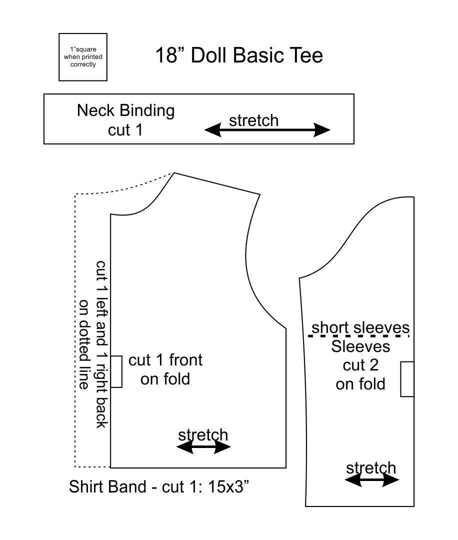 Printable 18 Inch Doll Clothes Patterns