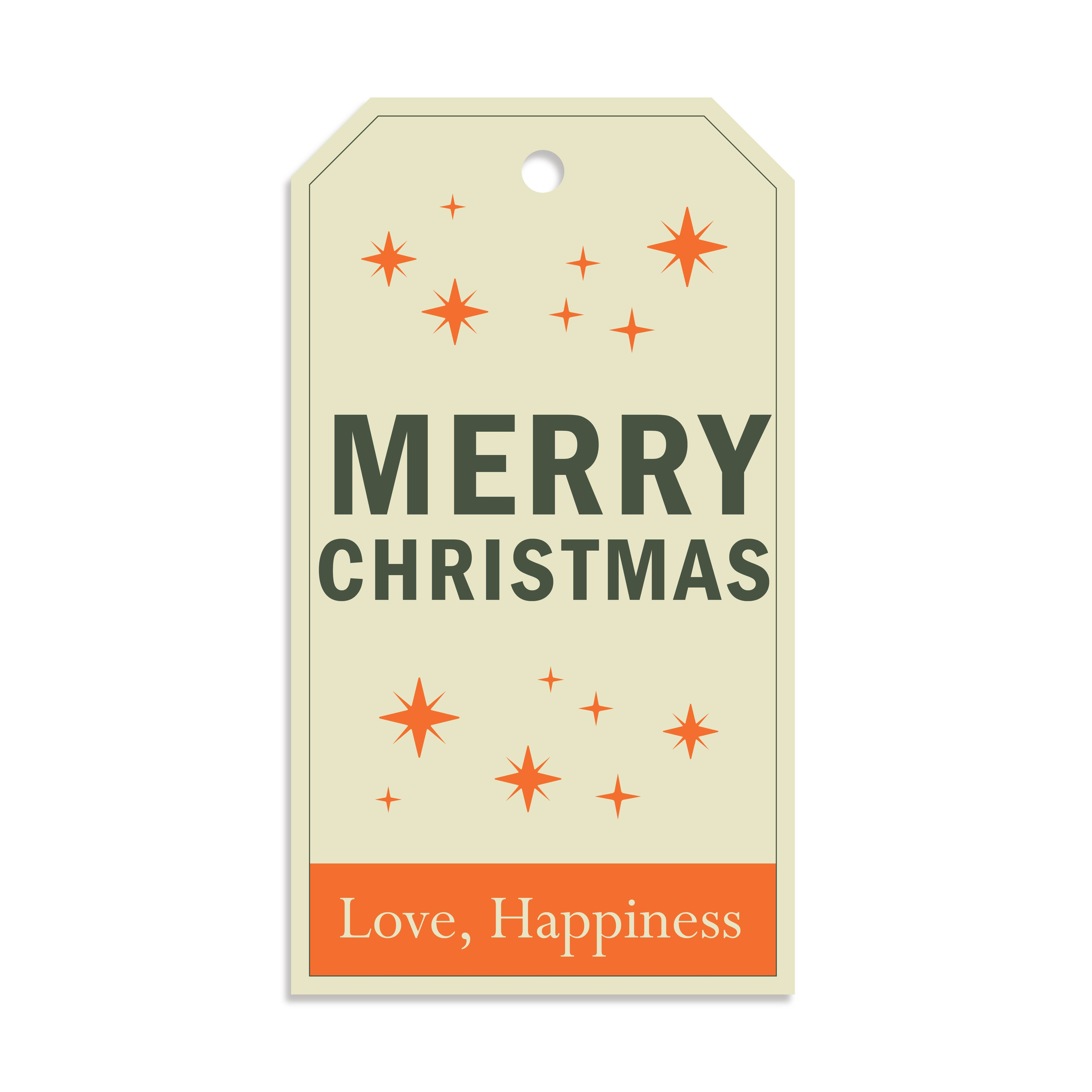 Christmas Tag Label Printables