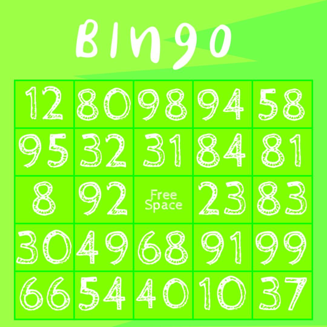 Classic Bingo Cards Printable