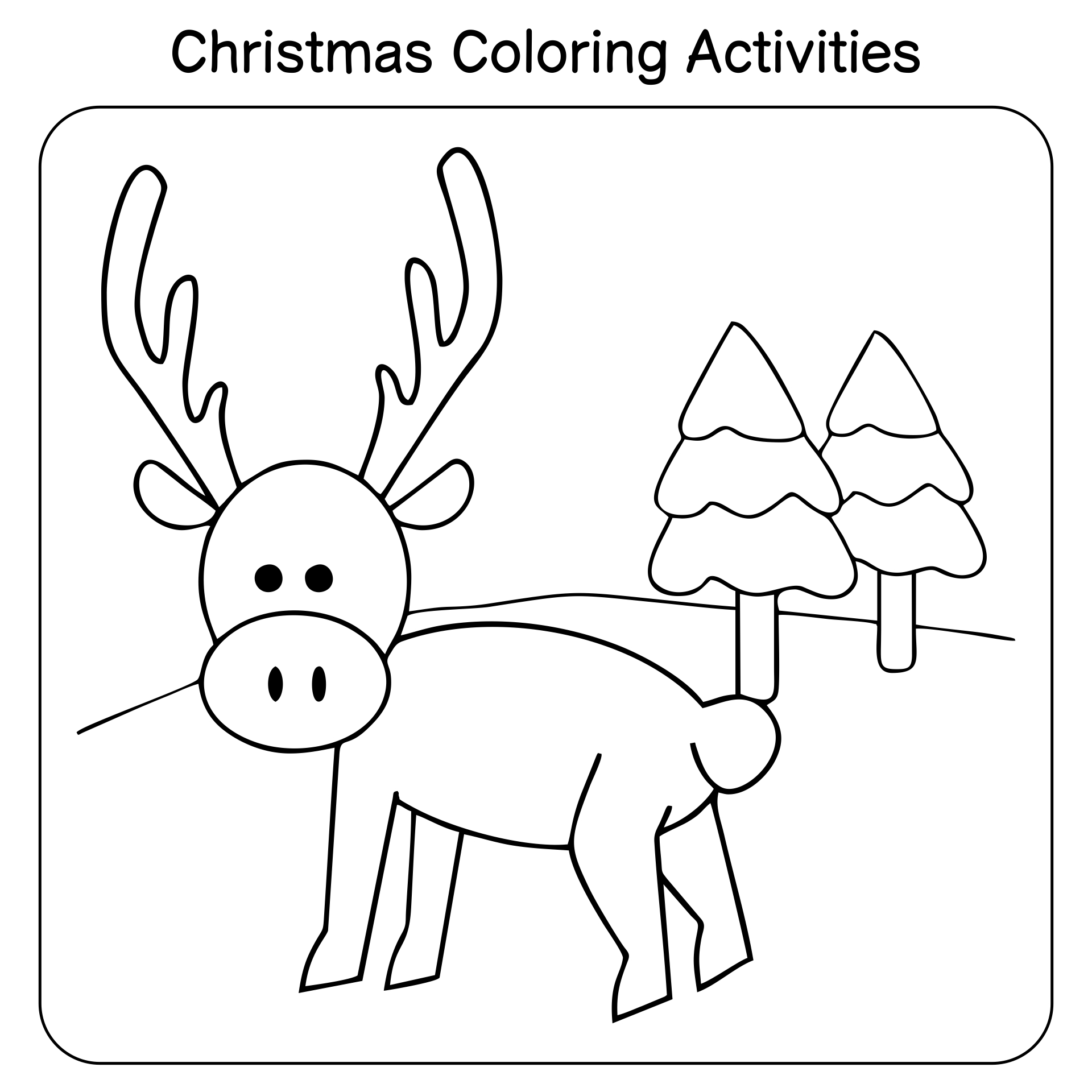Preschool Christmas Activities Printables