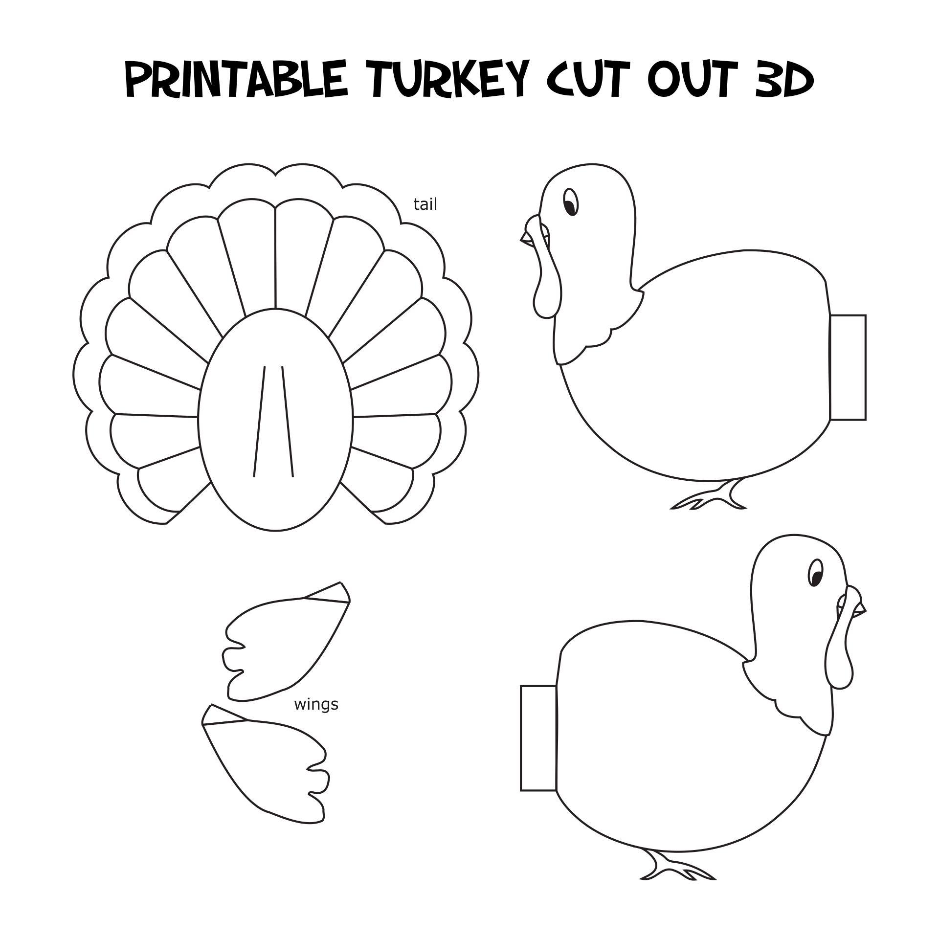 Thanksgiving Printable Cutouts