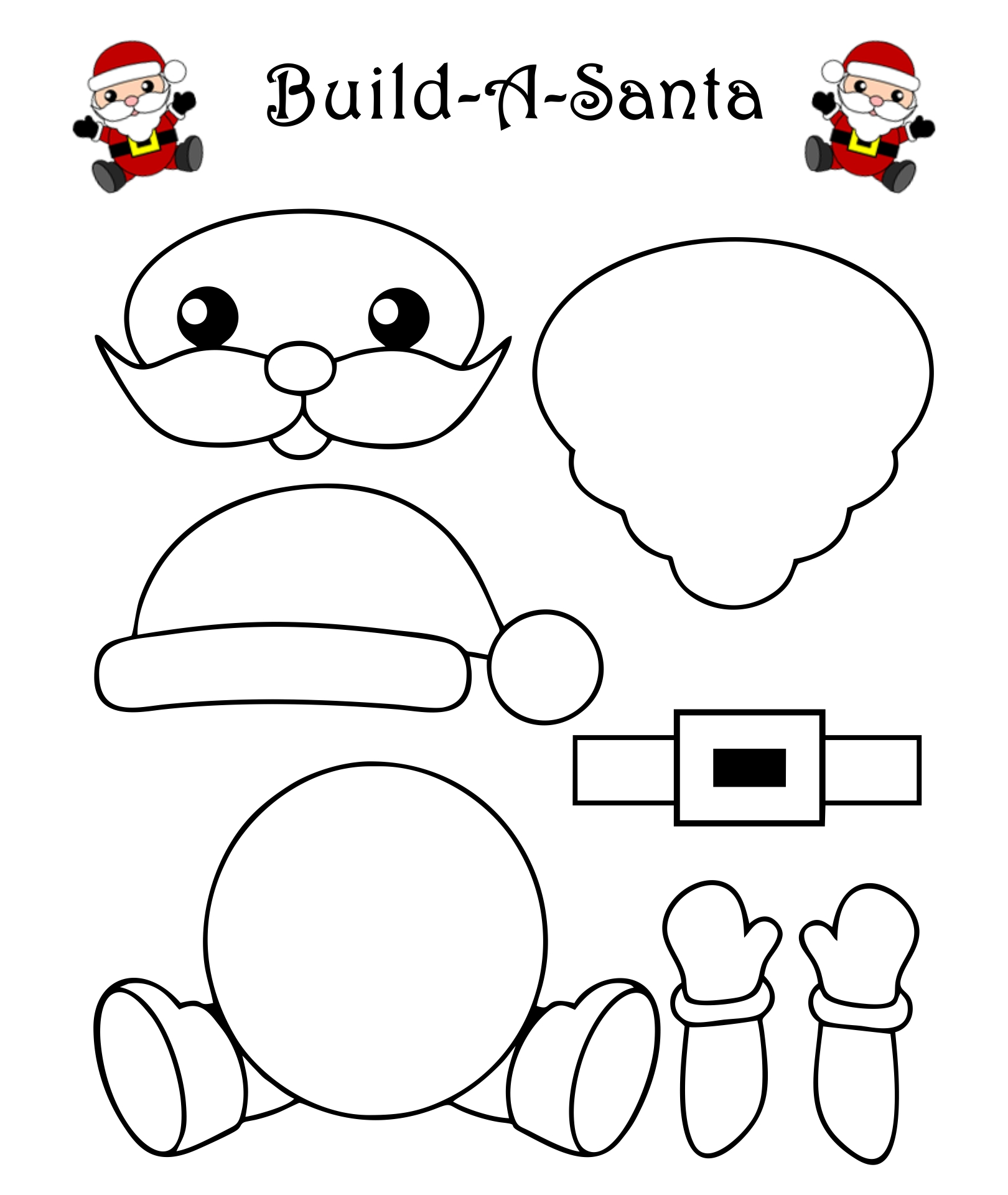 Santa Claus Template Printable Craft