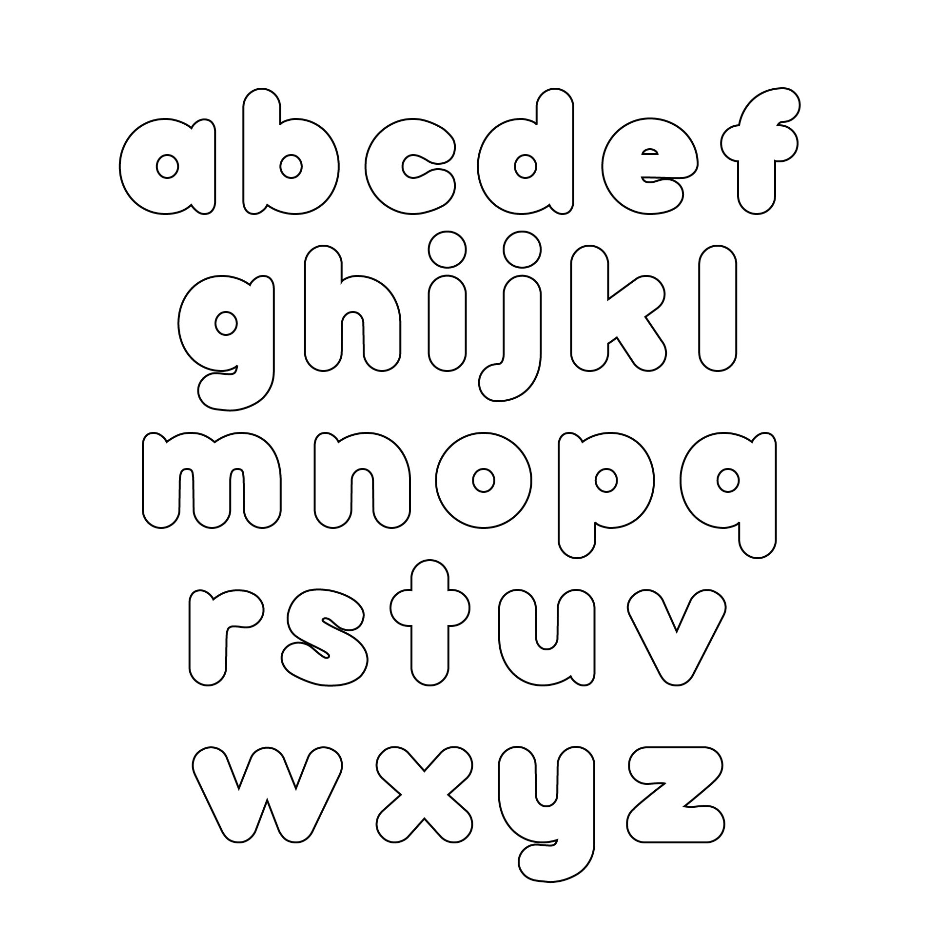 3 Inch Alphabet Letters Printable
