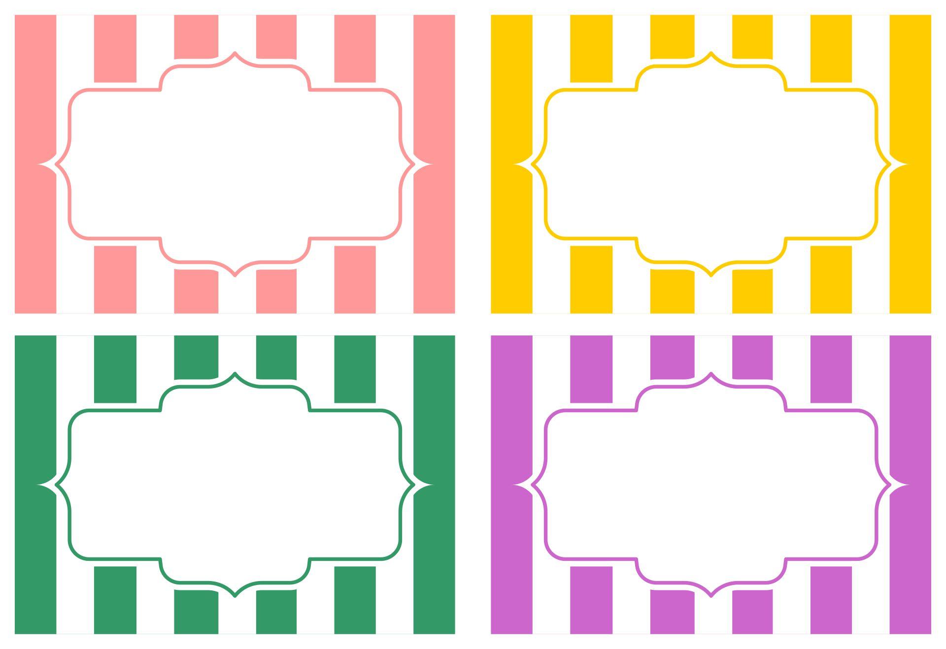 Printable Classroom Labels
