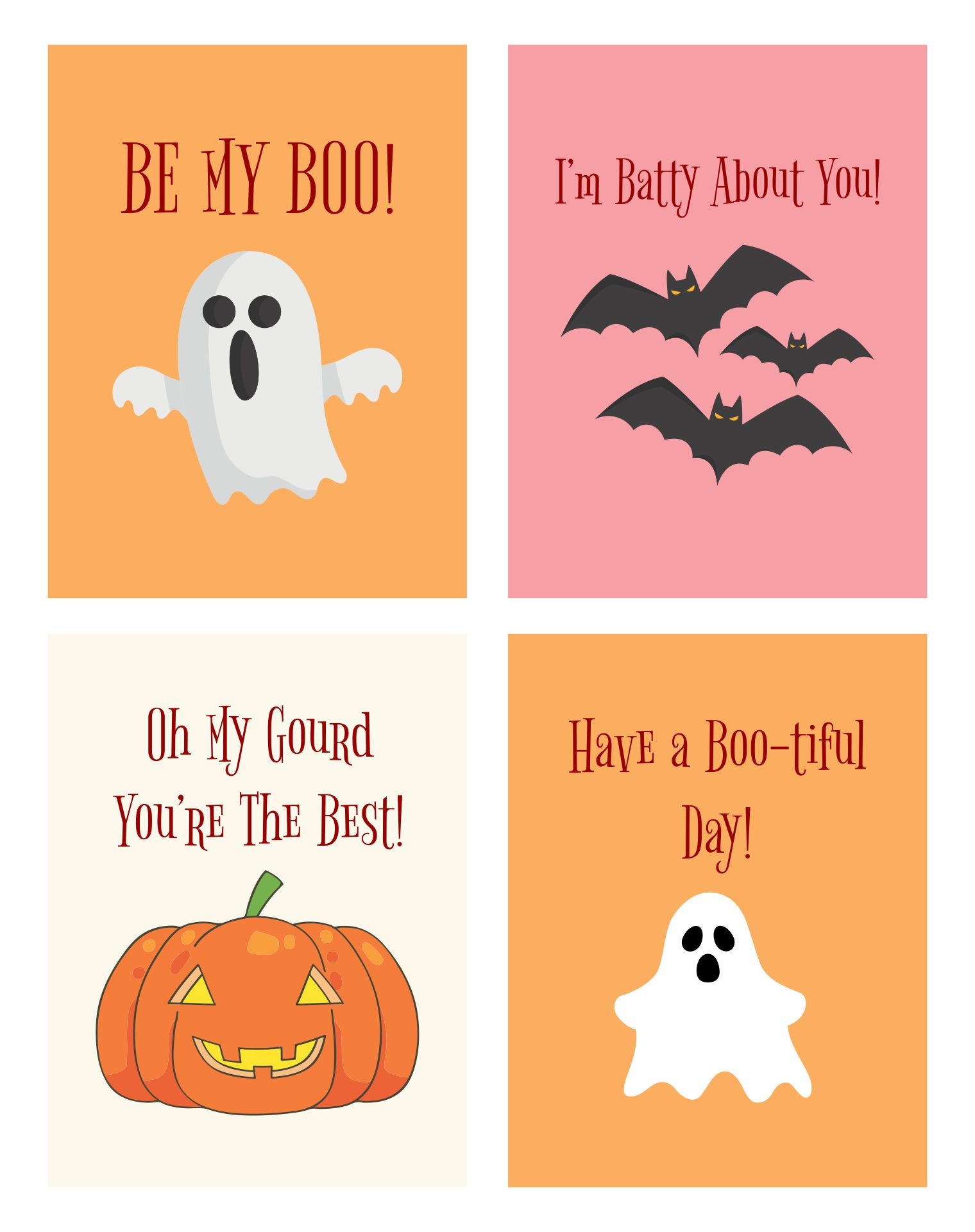 Halloween Lunch Notes Printables